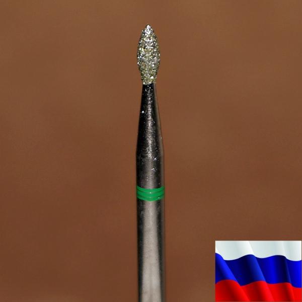"""Алмазная фреза """"ПОЧКА"""" (зеленая), d=1,8 мм"""