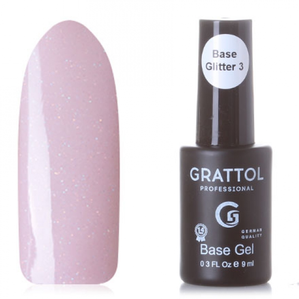 GRATTOL Rubber Base Glitter (камуфляжная база с шиммером), #3