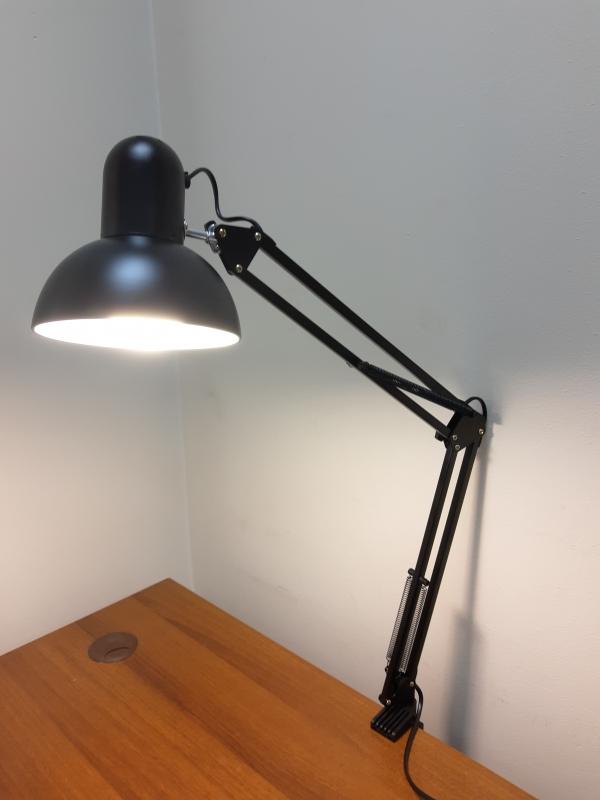 Маникюрная настольная лампа (черная)