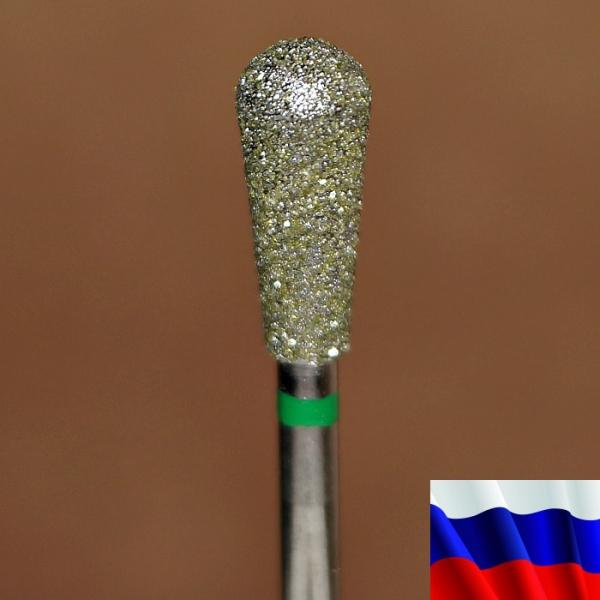 "Алмазная фреза ""ГРУША"" (зеленая), d=5,0 мм"