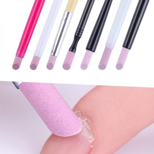 обработка свободного края ногтей