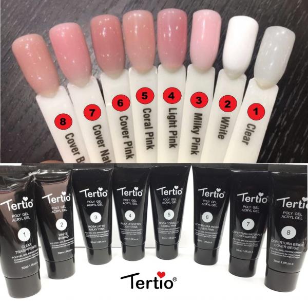 """Акригель - Полигель """"Tertio"""" Clear #1, 30 гр."""