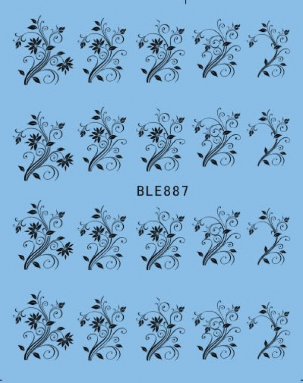 Наклейки черные, № BLE887