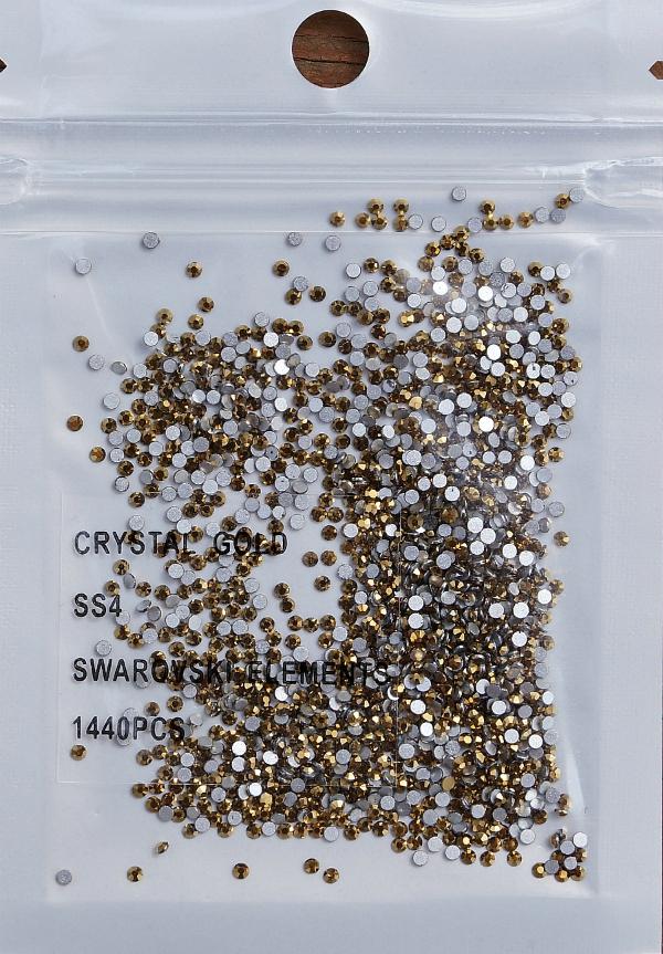 Стразы Swarovski ЗОЛОТО SS4 - 1,6 мм (в упаковке 1440 штук)