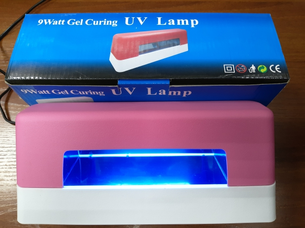 УФ-лампа 9 Вт (розовая), модель 322