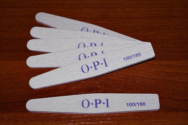 Пилка серая OPI (ромб), 100/180 грит