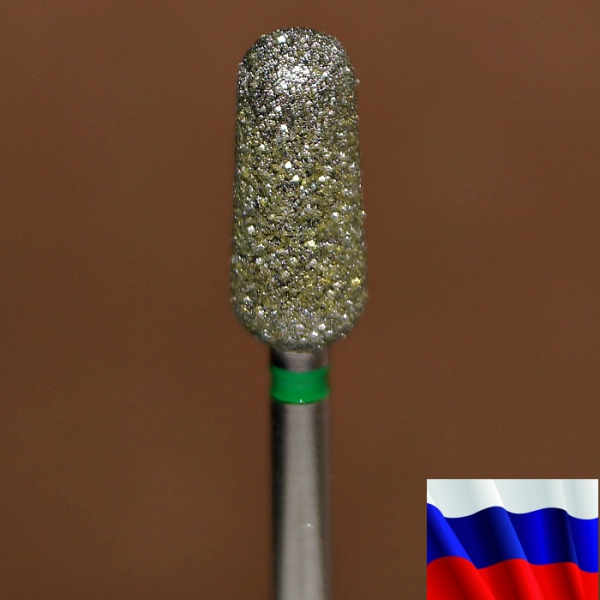 "Алмазная фреза ""ПОЧКА закругленная"" (зеленая), d=5,0 мм"