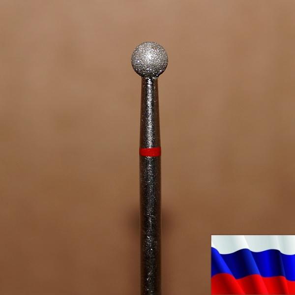 """Алмазная фреза """"ШАРИК"""" (красная), d=4,0 мм"""