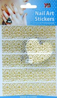"""Наклейки на весь ноготь """"Леопард"""", № YM015B"""