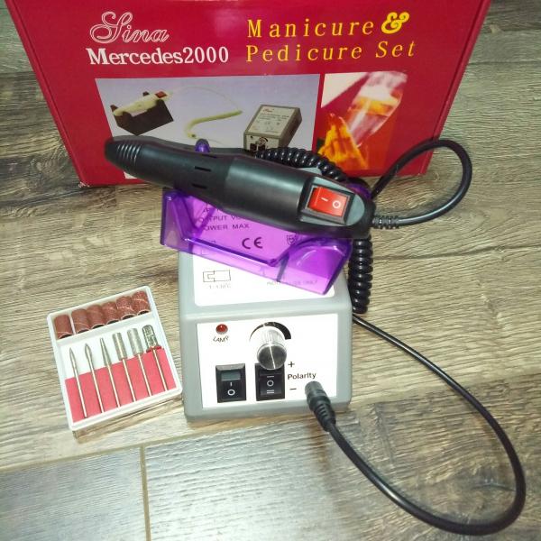 Машинка для маникюра MERCEDES (серая), 20 тыс. об/мин