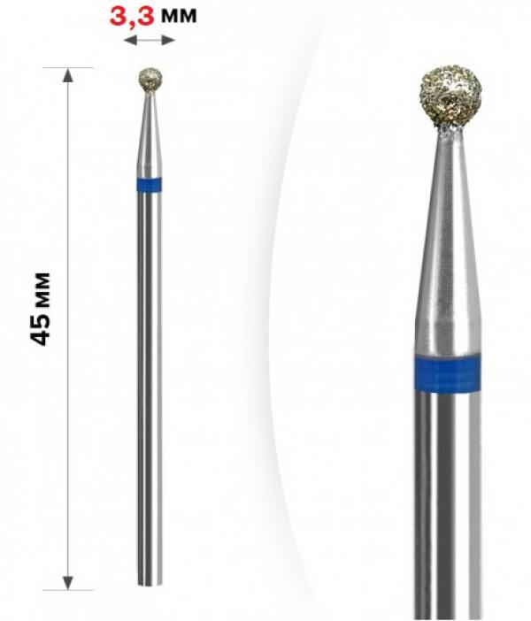 "Алмазная фреза ""ШАР"" (синяя), d=3,3 мм"