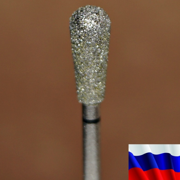 """Алмазная фреза """"ГРУША"""" (черная), d=5,0 мм"""