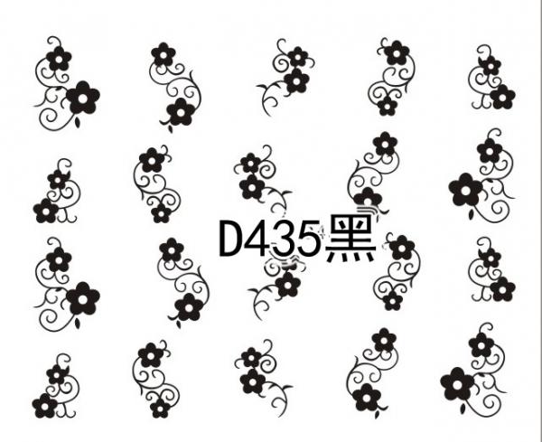 Наклейки черные, № D435