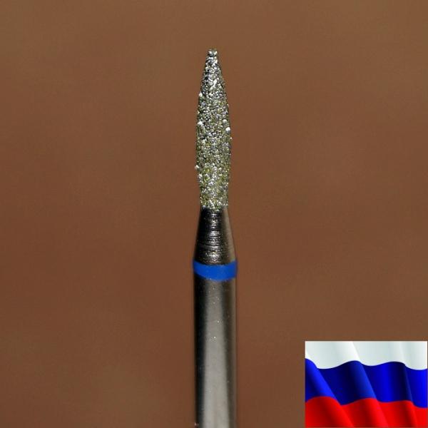"""Алмазная фреза """"ПЛАМЯ"""" (синяя), d=1,8 мм"""