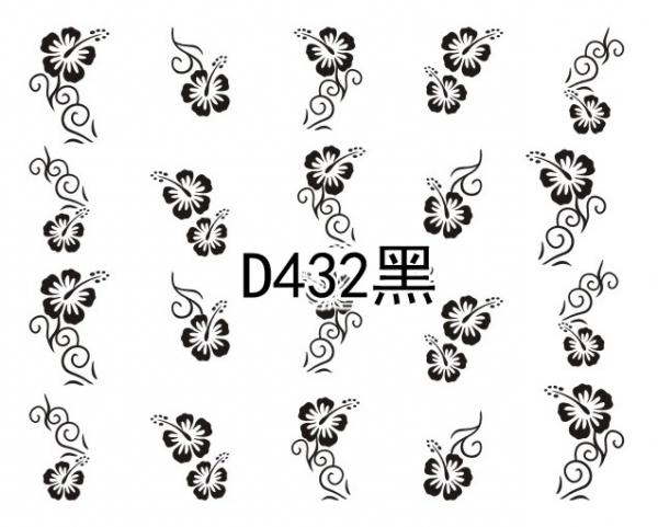 Наклейки черные, № D432