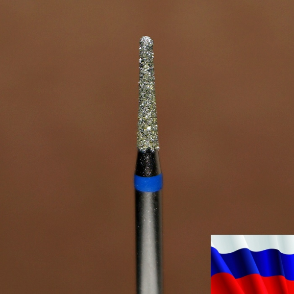 """Алмазная фреза """"КОНУС закругленный"""" (синяя), d=1,8 мм"""