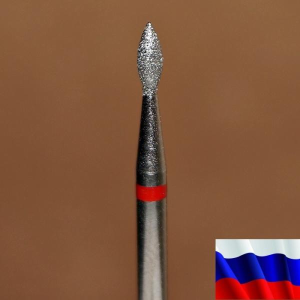 """Алмазная фреза """"ПОЧКА"""" (красная), d=1,8 мм"""