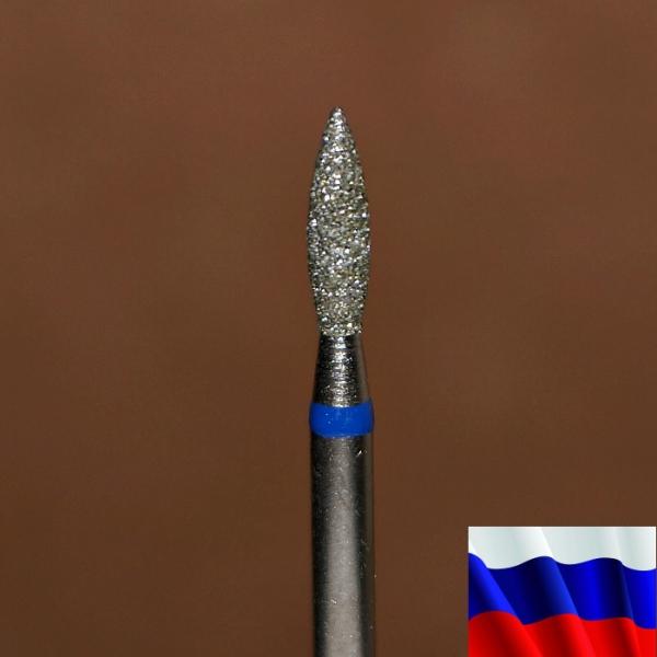 """Алмазная фреза """"ПЛАМЯ"""" (синяя), d=2,3 мм"""