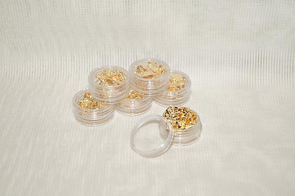 Фольга для дизайна ногтей (золотая)