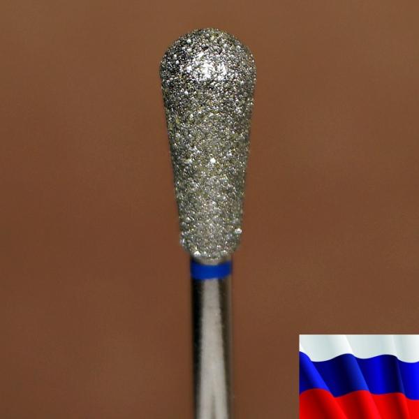 """Алмазная фреза """"ГРУША"""" (синяя), d=5,0 мм"""