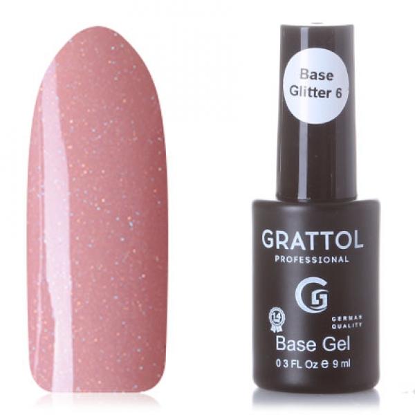GRATTOL Rubber Base Glitter (камуфляжная база с шиммером), #6