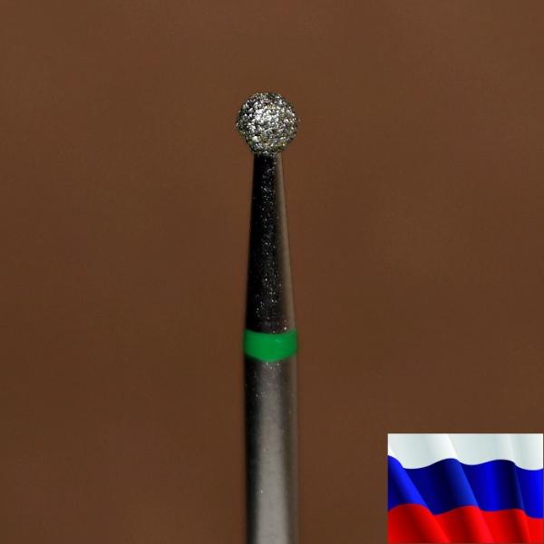 "Алмазная фреза ""ШАР"" (зеленая), d=2,5 мм"