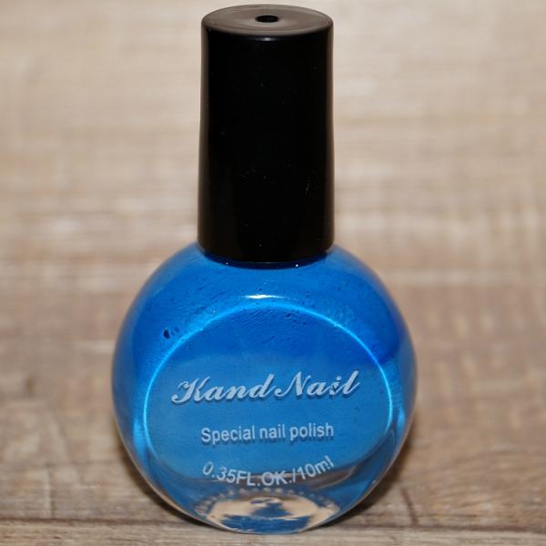 """Лак для стемпинга """"Kand Nail"""" (синий)"""