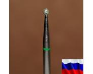 """Алмазная фреза """"ШАРИК"""" (зеленая), d=2,1 мм"""