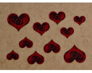 "Фотодизайн для ногтей ""Сердце розы"", N35"