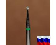 """Алмазная фреза """"ШАРИК"""" (зеленая), d=1,6 мм"""