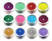 Цветной блеск для ТАТУ, 12 штук в наборе