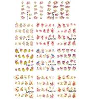 Наклейки цветные № BJC122-132, 11 штук на листе