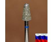 """Алмазная фреза """"КОНУС закругленный"""" (синяя), d=5,0 мм"""