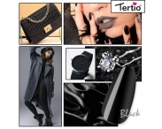 """Гель лак """"Tertio"""" черный, № 012"""