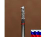 "Алмазная фреза ""ЦИЛИНДР закругленный"" (красная), d=2,3 мм"