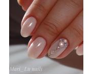 GRATTOL Rubber Base Glitter (камуфляжная база с шиммером), #1