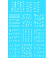 Наклейки белые № D111-121, 11 штук на листе