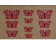 """Фотодизайн для ногтей """"Розовые бабочки"""", s030"""