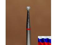 """Алмазная фреза """"ШАРИК"""" (красная), d=2,1 мм"""