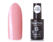 GRATTOL Rubber Base Glitter (камуфляжная база с шиммером), #8