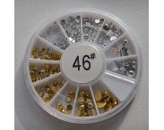 Карусель - жемчуг (золото + серебро), #46