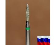"Алмазная фреза ""ПЛАМЯ"" (зеленая), d=1,8 мм"