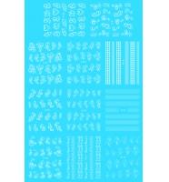 Наклейки белые № D100-110, 11 штук на листе