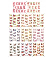 Наклейки цветные № B133-143, 11 штук на листе