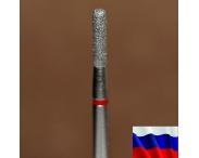 "Алмазная фреза ""ЦИЛИНДР закругленный"" (красная), d=1,8 мм"