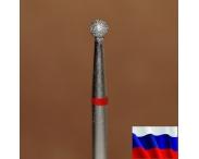 """Алмазная фреза """"ШАРИК"""" (красная), d=2,5 мм"""
