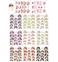 Наклейки цветные № B056-066, 11 штук на листе
