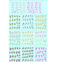 Наклейки цветные № BLE1027-1037, 11 штук на листе